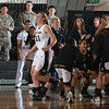 Army Forward Aimee Oertner (33) is introduced prior to their Patriot League Tournament Semifinal game against the American University Eagles at the United States Military Academy's Christl Arena in West Point, NY on Monday, March 10, 2014. Army defeated American, 68-55, to advance to the finals. Hudson Valley Press/CHUCK STEWART, JR.