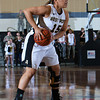 Army Guard Krishawn Tillett (15) handles the ball during their Patriot League Tournament Semifinal game against American at the United States Military Academy's Christl Arena in West Point, NY on Monday, March 10, 2014. Army defeated American, 68-55, to advance to the finals. Hudson Valley Press/CHUCK STEWART, JR.