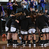 The Army Black Knight's huddle up prior to defeating the Holy Cross Crusaders 68-58 in the Patriot League Championship game at the United States Military Academy's Christl Arena in West Point, NY on Saturday, March 15, 2014. Hudson Valley Press/CHUCK STEWART, JR.