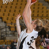 Army Forward Aimee Oertner (33) drives to the basket as the Black Knight's defeated the Lehigh Mountain Hawks 74-63 at the United States Military Academy's Christl Arena in West Point, NY on Wednesday, January 8, 2014. Hudson Valley Press/CHUCK STEWART, JR.