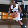 Army Guard Bridgette Ocran (2) handles the ball as the Black Knight's defeated the Lehigh Mountain Hawks 74-63 at the United States Military Academy's Christl Arena in West Point, NY on Wednesday, January 8, 2014. Hudson Valley Press/CHUCK STEWART, JR.