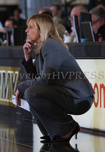 Lehigh head coach Sue Troyan watches as the Army Black Knight's defeated the Lehigh Mountain Hawks 74-63 at the United States Military Academy's Christl Arena in West Point, NY on Wednesday, January 8, 2014. Hudson Valley Press/CHUCK STEWART, JR.