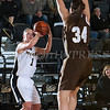 Army Guard Jen Hazlett (1) scored a team high 25 points, including three 3-pointers, as the Black Knight's defeated the Lehigh Mountain Hawks 74-63 at the United States Military Academy's Christl Arena in West Point, NY on Wednesday, January 8, 2014. Hudson Valley Press/CHUCK STEWART, JR.