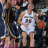 Army Forward Danielle Failor (35) drives to the basket as the Black Knight's defeated the Navy Midshipmen 54-48 at the United States Military Academy's Christl Arena in West Point, NY on Saturday, February 8, 2014. Hudson Valley Press/CHUCK STEWART, JR.