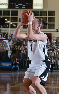 Army Guard Jen Hazlett posted 12 points as the Black Knight's defeated the Navy Midshipmen 54-48 at the United States Military Academy's Christl Arena in West Point, NY on Saturday, February 8, 2014. Hudson Valley Press/CHUCK STEWART, JR.