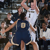 Army Guard Jen Hazlett (1) scored 12 points as the Black Knight's defeated the Navy Midshipmen 54-48 at the United States Military Academy's Christl Arena in West Point, NY on Saturday, February 8, 2014. Hudson Valley Press/CHUCK STEWART, JR.