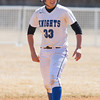 Freshman Short Stop Breanna DePasquale (33) moves to second base as the Mount Saint Mary College women's softball team splits a doublheader against The College at Old Westbury on Sunday, April 6, 2014 at the Mount in Newburgh, NY. Hudson Valley Press/CHUCK STEWART, JR.