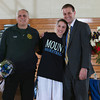 Senior Jessica Perrone Miller was recognized on Sunday, February 23, 2014. Each senior was joined by her parents and received a gift to celebrate her four years with the Black and Blue. Hudson Valley Press/CHUCK STEWART, JR.