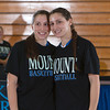 Seniors Jessica and Rachel Perrone were recognized on Sunday, February 23, 2014. Each senior was joined by her parents and received a gift to celebrate her four years with the Black and Blue. Hudson Valley Press/CHUCK STEWART, JR.
