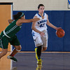 Mount Saint Mary Forward Natalie Candarelli (42) brings the ball up court against the Old Westbury Panthers, in their Skyline Conference game Sunday, February 23, 2014 at the Kaplan Center in Newburgh, NY. The Panthers defeated the Mount 73-69. Hudson Valley Press/CHUCK STEWART, JR.