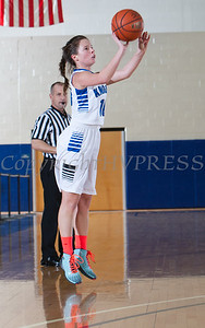 Mount Saint Mary College Guard Lauren Romao (10) scored 13 points as the Mount women's basketball team fell to The Sage Colleges, 66-54, in their Skyline Conference opener Tuesday, January 7, 2014 at the Kaplan Center in Newburgh, NY. Hudson Valley Press/CHUCK STEWART, JR.