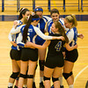 The Mount Saint Mary College women's volleyball team (15-15, 4-1 Skyline) defeated Yeshiva University (0-13, 0-3 Skyline), 3-0 (25-9, 25-10, 25-14), in Skyline Conference action Wednesday, October 22, 2014 at the Kaplan Center. Hudson Valley Press/CHUCK STEWART, JR.