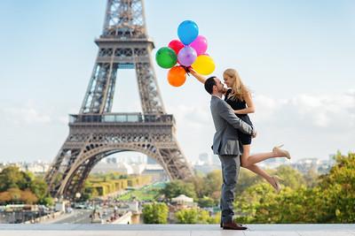 Stephanie & Olivier Paris engagement
