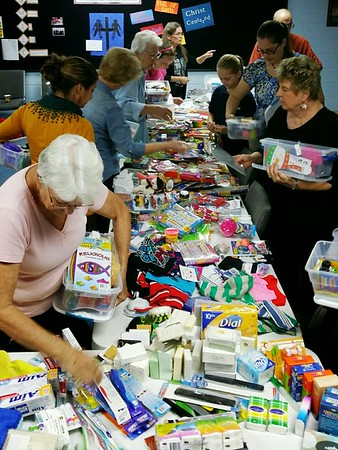 Stephen Ministry Operation Christmas Child Packing Party