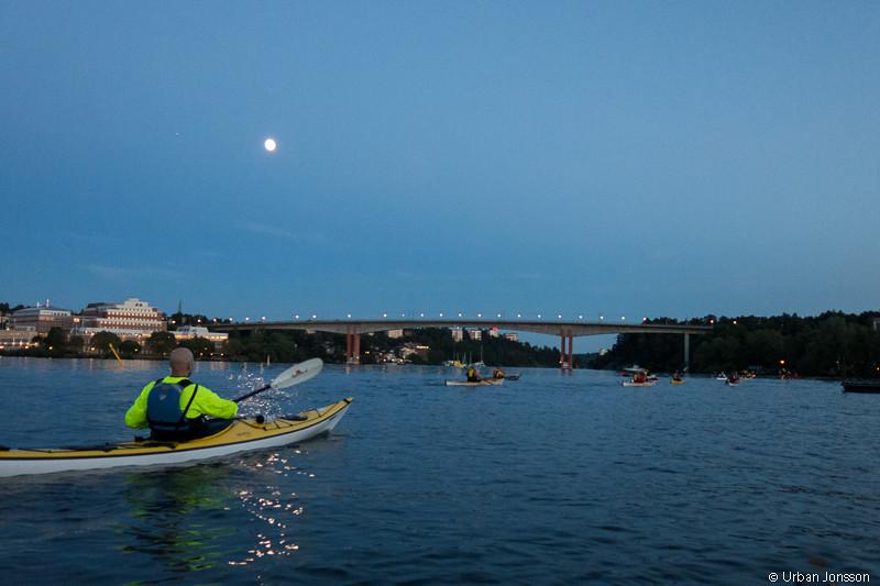 Blåtimman vid Alviksbron.
