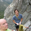 Rick and Marty at the Johnny Quest belay station