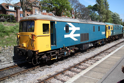 73207 & 33111 seen at Swanage Station.