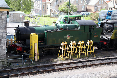 0-6-2T 6695 at Swanage sidings.