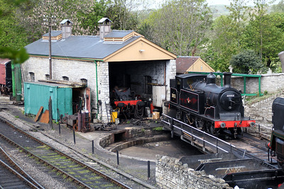 0-4-4T 30053 on Swanage shed.