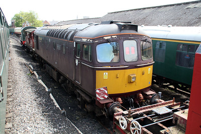 33029 at Swanage sidings.