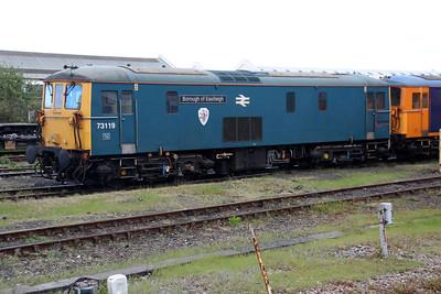 73119 'Borough of Eastleigh'  seen at Eastleigh Station sidings.