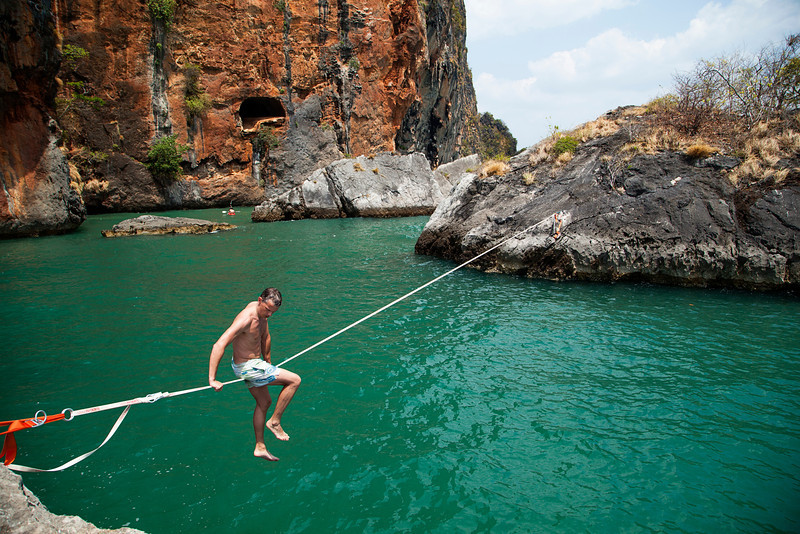 A day's adventure on a waterline just off Phra Nang Beach.