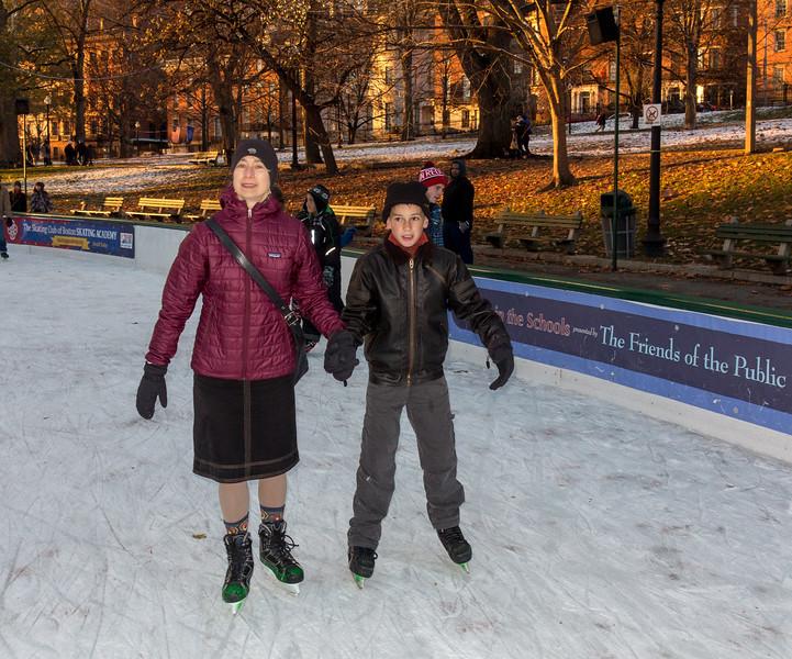 Chantal and Joey skating