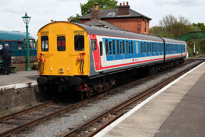 DEMU 205205 1450/2c12 North Weald-Ongar service.
