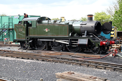 2-6-2T 4141 in the depot yard.