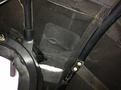 Passenger's side inside patch applied