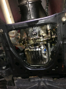 A shot of the oil pan