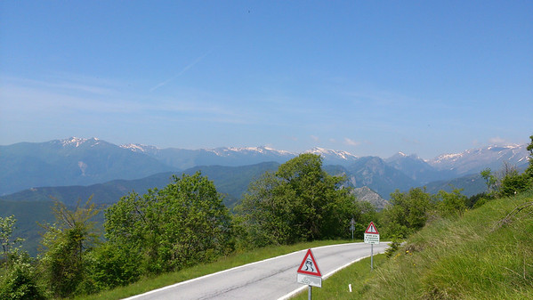 View from the top of the pass between our valley and the Val Tanaro
