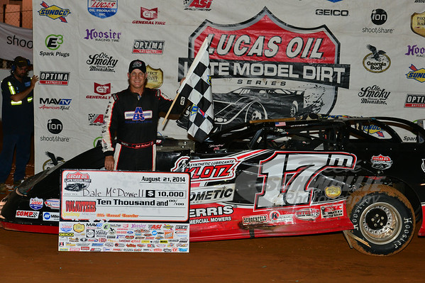 Dale McDowell in Victory Lane