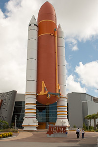 Atlantis fuel tank and SRBs