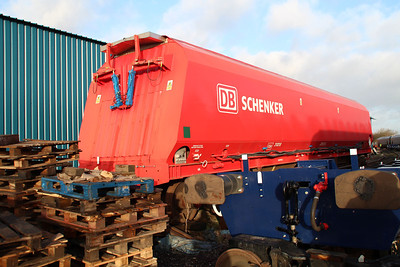 DB Schenker HTA 310318 fitted with doors for Biomass traffic.