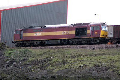 60071 'Ribblehead Viaduct' seen at Santon Iron Ore Terminal.