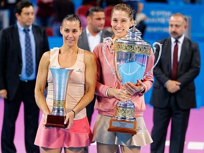 01.15 Flavia Pennetta finalist and Andrea Petkovic winner - WTA Champions finals Sofia 2014_01.15