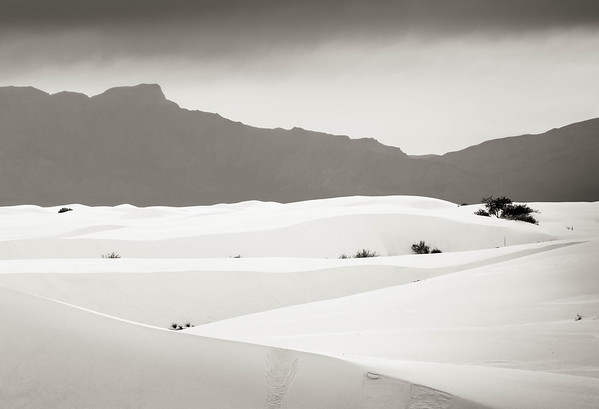 Mountains and Dunes, White Sands