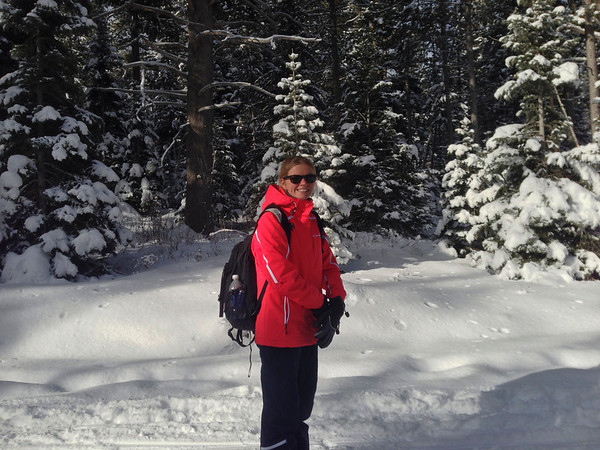 Sammi took a ski lesson on our first day at Jackson Hole. On our 2nd day I skied for 2 hours (got 2 runs in) and then joined her for a little snowshoing in Grand Teton National Park. We did a 4.5 mile (round-trip) hike to Phelps Lake.