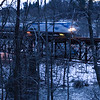 The Vermonter in a blur on the Millers Falls High Bridge, January 12, 2014.