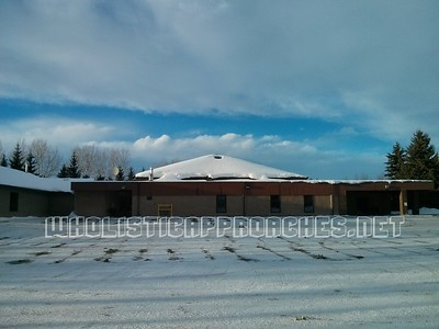 Red Deer Seventh-day Adventist Church Parking lot and building