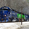 Pan Am Southern EDMO (East Deerfield to Mohwak Yard) passing through Zoar, MA on the West End of the former Boston &  Maine, January 12, 2014.