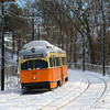 Mattanpan Line PCCs in the fresh snow from a weekend Nor'easter, Febuary 16, 2014.