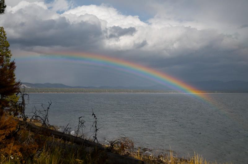 Rainbow over Yellowstone Lake