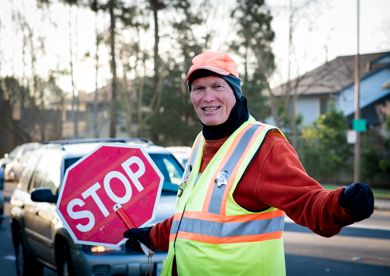 Marty the crossing guard
