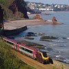 220009 between Dawlish and Teignmouth working the 06:52 Dundee - Plymouth 21/04/14