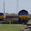 66122 arrives in Margam Yard with the 10:22 Corby Steel Works - Margam Yard with 66065 18/03/14
