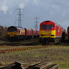 66003 + 60020 in Margam Yard 22/03/14