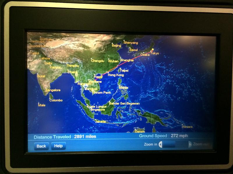 Map to Bangkok.