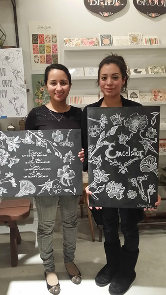 Be lovely - Chalkboard art class 3/7/14
